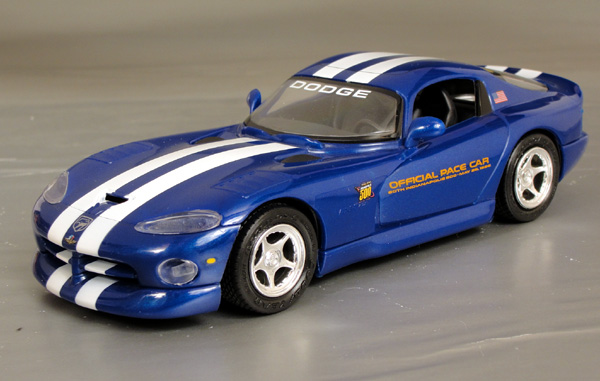 1996 dodge viper gts indy pace car 1 24thscale details diecast cars diecast model cars. Black Bedroom Furniture Sets. Home Design Ideas