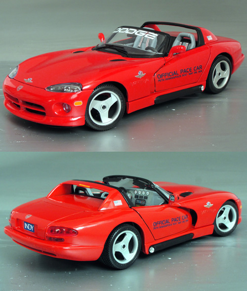 1991 dodge viper r t 10 75th indy 500 pace car details diecast cars diecast model cars. Black Bedroom Furniture Sets. Home Design Ideas