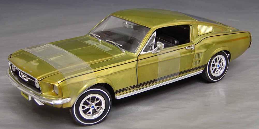 1967 ford mustang g t 289 hi po special finish details diecast cars diecast model cars. Black Bedroom Furniture Sets. Home Design Ideas