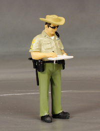"""Dave"" the Sherriff...writing a speeding ticket."