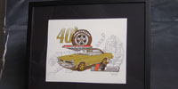 1965 40th Anniv. GTO Print, 11X14 with GTO design