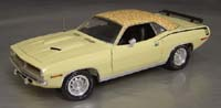 Click image to see more information about our 1970 Plymouth Cuda Sun Fire Yellow with Yellow Mod Top