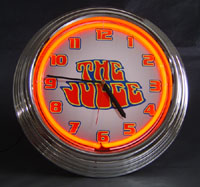 """The Judge"" Neon Clock"