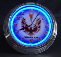 """Pontiac Trans Am "" Neon Clock"