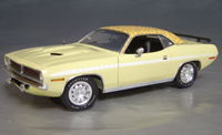 Click image to see more information about our 1970 Plymouth Cuda Yellow mod top/white strobe!