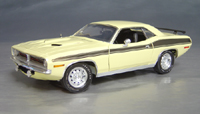 Click image to see more information about our 1970 Plymouth Cuda Yellow chase/black 73/74!