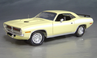 Click image to see more information about our 1970 Plymouth Cuda Yellow chase/white 73/74!