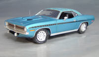 Click image to see more information about our 1970 Plymouth Cuda Blue mod top/black strobe!