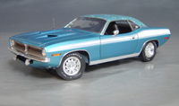 Click image to see more information about our 1970 Plymouth Cuda Blue mod top/white 73/74!
