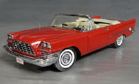 Click image to see more information about our 1957 Chrysler 300 C Convertible Regimental Red with Tan Interior!