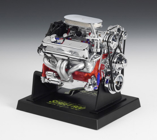 Chevy Small Block 350 Street Rod Engine, LARGE 1/6th Scale Replica
