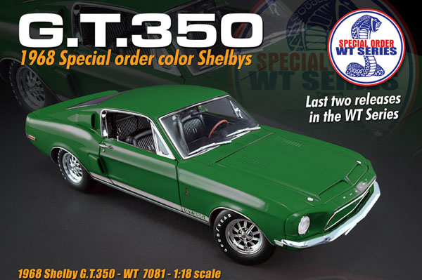 1968 Ford Shelby GT 350, WT Special Paint Car, Issue #5