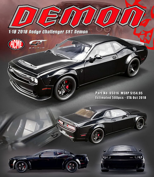 2018 Expedition Release Date >> 2018 Dodge Challenger Demon SRT Details - Diecast cars, diecast model cars, diecast models ...