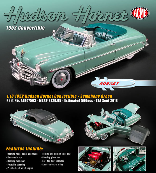 1952 hudson hornet convertible details diecast cars. Black Bedroom Furniture Sets. Home Design Ideas