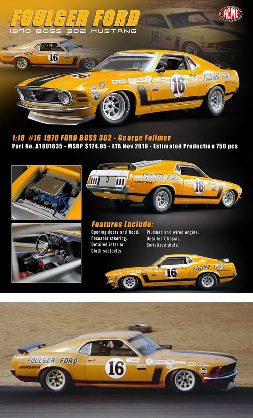 1970 Ford Boss 302 Trans Am Mustang,
