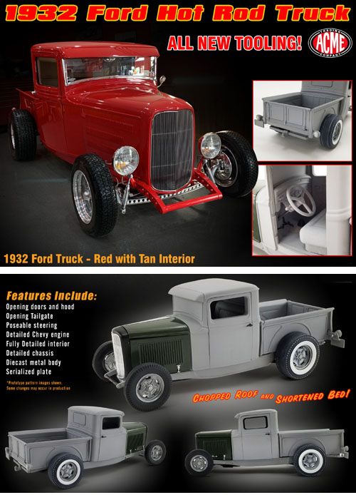 1932 Ford Hot Rod Pick-Up, NEW SERIES..!