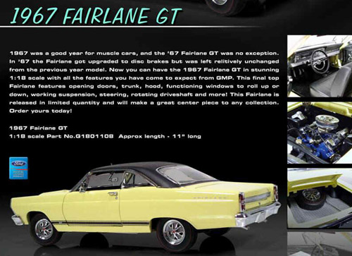 1967 Ford Fairlane Gt 390 Details Diecast Cars Diecast