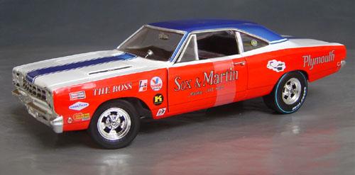 1968 Hemi Roadrunner, Sox & Martin Drag Car Details