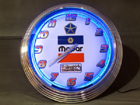 """Mopar"" - ""Direct Connection"" ROYALBLUE Neon Clock"