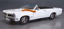 Click image to see more information about our 9th Anniversary Official Pontiac Die Cast Commemorative Collectible 1965 GTO Hurst Edition White Convertible