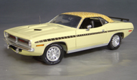 Click image to see more information about our 1970 Plymouth Cuda Yellow mod top/black strobe!