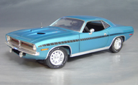 Click image to see more information about our 1970 Plymouth Cuda Blue chase/black strobe!