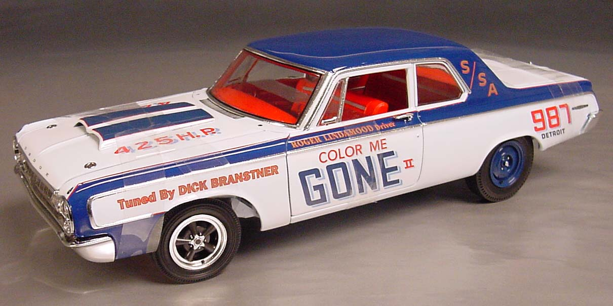 "1964 Dodge 330 S/SA, 426 Max, ""Color Me Gone"" Details - Diecast cars, diecast model cars ..."