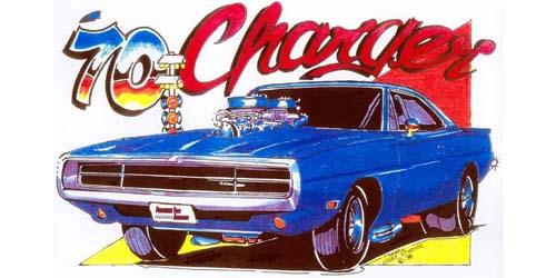 Charger Artwork Print Design Details Diecast Cars Diecast