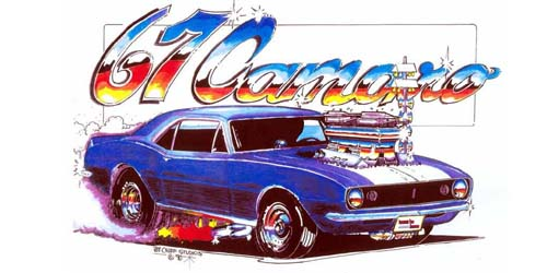 Camaro Artwork Print Design